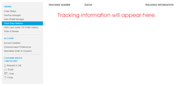 tracking number vips discount email call